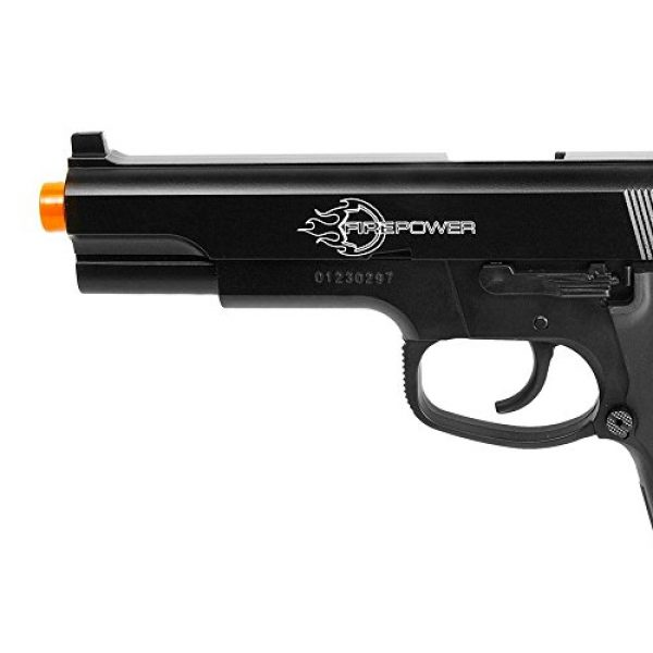 Fire Power Airsoft Pistol 4 Firepower .45 Metal Slide Spring Powered Airsoft Pistol with Hop-Up, 325 FPS