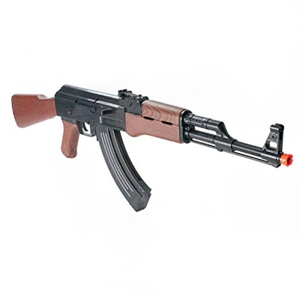 BBTac Airsoft Rifle 6 BBTac Airsoft Spring Rifle A&K Airsoft Gun Full Size Great for Starter Shoot 6mm BBS with Safe Mode, Wood Color