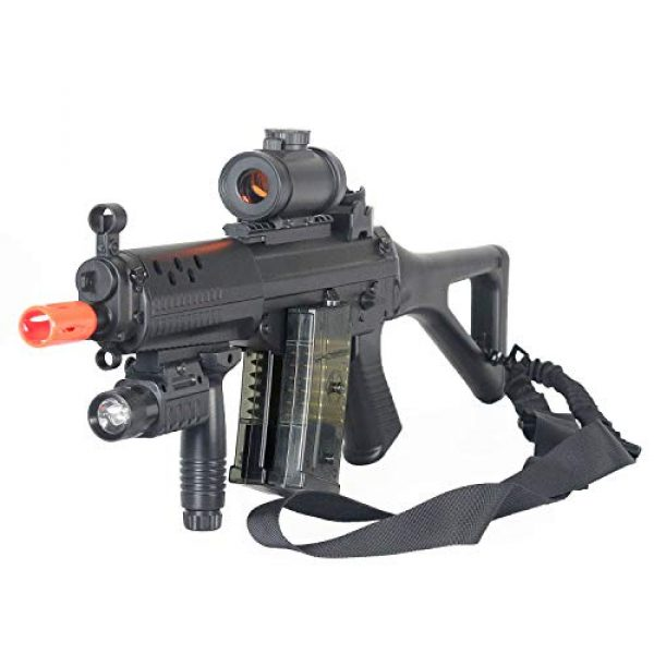 BBTac Airsoft Rifle 4 BBTac Double Eagle Airsoft Gun AEG Electric Rifle Full Auto Great Starter with Premium Airsoft Carrying Sling
