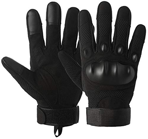 SHAWINGO Airsoft Glove 3 SHAWINGO Touch Screen Tactical Army Military Hard Knuckle Gloves for Motorcycle Cycling Shooting Hunting Hiking Riding Climbing