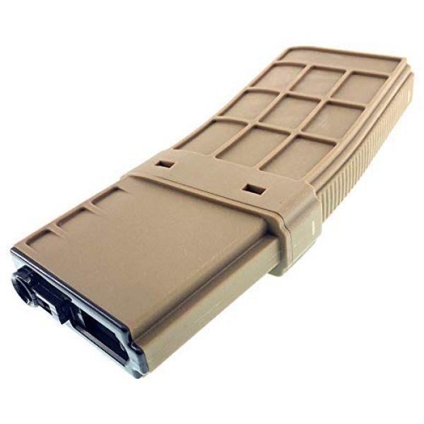 SportPro Airsoft Gun Magazine 6 SportPro CYMA 450 Round Polymer Thermold Waffle High Capacity Magazine for AEG M4 M16 Airsoft - Tan