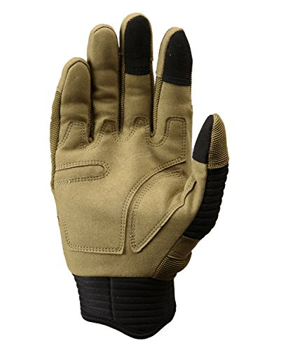 TACVASEN Airsoft Glove 4 TACVASEN Men's Full Finger Gloves for Motorcycle Cycling Camping Hiking Climbing Operating Work Sports
