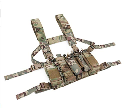 Tactical Area Airsoft Tactical Vest 3 Chest Rig Hunting Vest Molle Pouch Simple Military Tactical Vest with Pouchs
