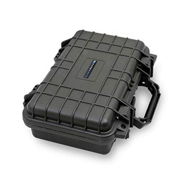 CASEMATIX Pistol Case 4 CASEMATIX Hard Gun Case for Pistols - Waterproof & Shockproof Gun Cases for Pistols, Compact 9mm Gun Case for Carrying Handgun with Scope and Accessories
