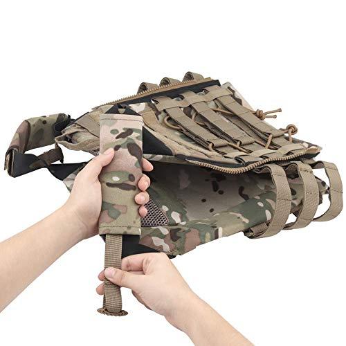 NICEFISH Airsoft Tactical Vest 6 Tactical Vest + Backpack/Modular Vest + Backpack/Breathable Combat Training Vest Adjustable Lightweight