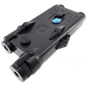 SportPro Airsoft Battery 1 SportPro Polymer PEQ-II Style Dummy Battery Box with Red Laser for AEG Airsoft Black
