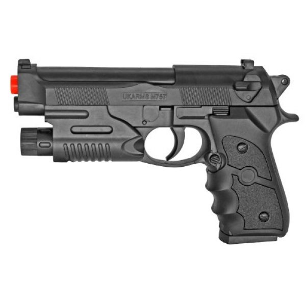 UKARMS Airsoft Pistol 1 bbtac m757r airsoft spring pistol black red dot sighted 150 fps with molded ergonomic hand grips airsoft gun by bbtac(Airsoft Gun)