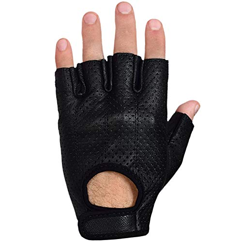 Max5 Airsoft Glove 7 Max5 Men's Fingerless Motorcycle Gloves