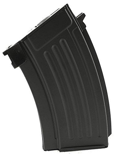 SportPro  1 SportPro 220 Round Metal Stubby High Capacity Magazine for AEG AK47 AK74 Airsoft - Black