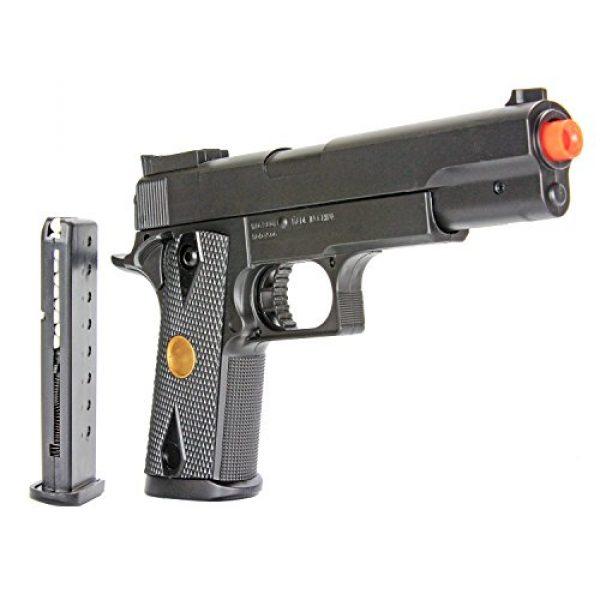 BBTac Airsoft Rifle 6 BBTac Airsoft Gun Package Desert Raider - Powerful Spring Rifle, Pump Action Shotgun, SMG, Two Pistols and BB Pellets, Preimum Airsoft Starter Pack