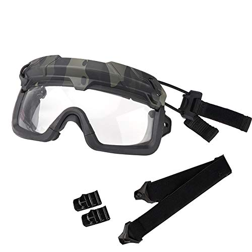 Sunnystacticalgear Airsoft Goggle 1 Sunnystacticalgear Outdoor Paintball Shooting Face Protection Gear Tactical Fast Helmet Wing Rail Side Rail Clip Buckle Mount Helmet Goggles