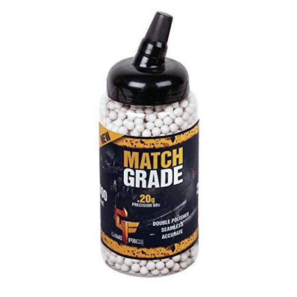 Game Face Airsoft BB 1 GameFace SAP2020E Match Grade Biodegradable .20-Gram White Airsoft BBs (2000-Count)