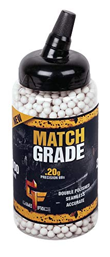 Game Face Airsoft BB 1 GameFace SAP2020E Match Grade Biodegradable .20-Gram White Airsoft BBs (2000-Count)