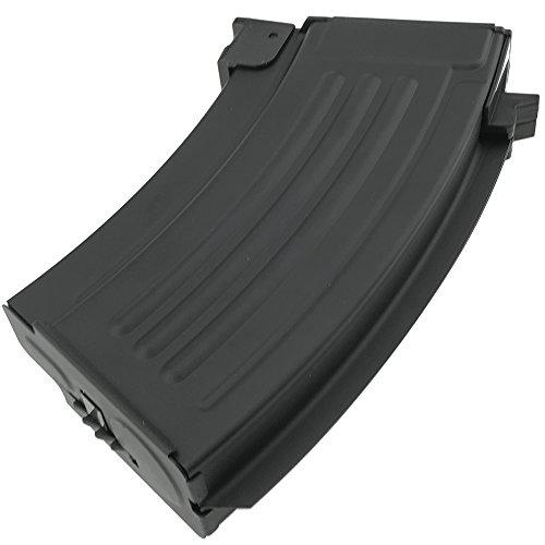 SportPro  7 SportPro 220 Round Metal Stubby High Capacity Magazine for AEG AK47 AK74 Airsoft - Black