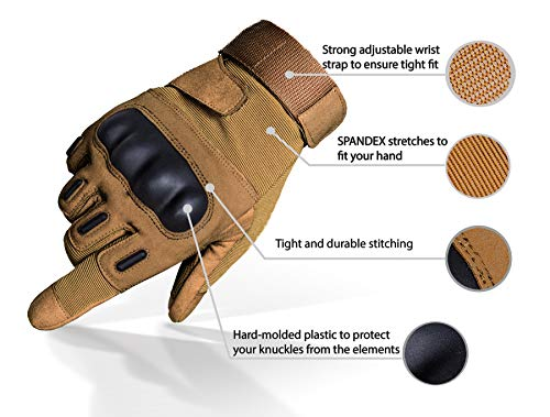 TitanOps Gear Airsoft Glove 2 TitanOPS Full Finger Hard Knuckle Motorcycle Military Tactical Combat Training Army Shooting Outdoor Gloves