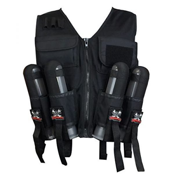 Maddog Airsoft Tactical Vest 3 Maddog Lightweight Tactical Paintball Sport Vest | Holds 4 Pods & Tank Up to 90ci