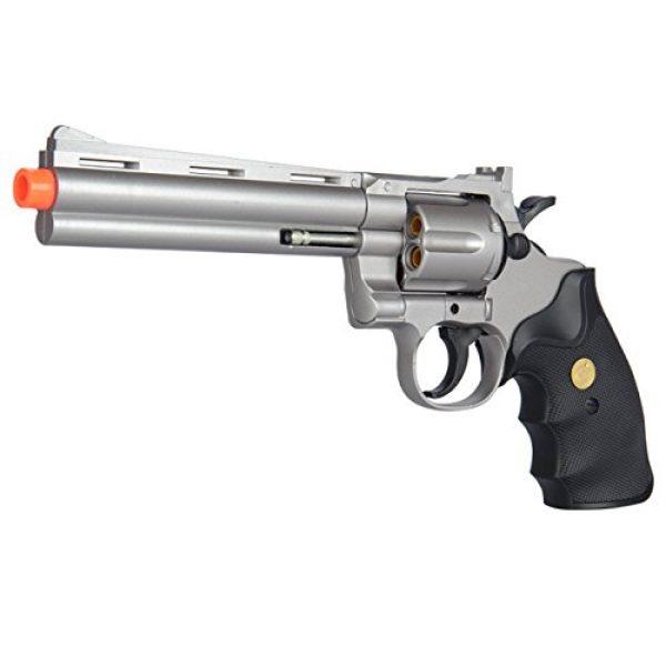UKARMS Airsoft Pistol 1 UKARMS Spring Airsoft Gun - 6 Shot 357 Magnum Revolver w/Shells + 6mm BBS (Silver)