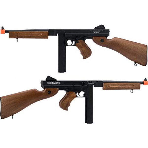 Thompson Airsoft Rifle 3 Soft Air Thompson M1A1 Electric Powered Airsoft Gun with Adjustable Hop-Up, 320-365 FPS