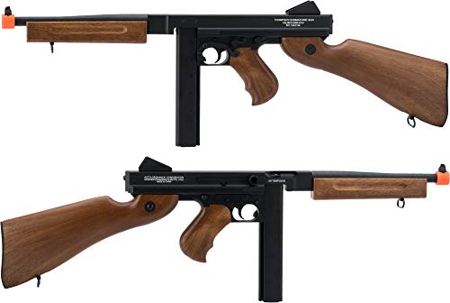 Thompson  2 Soft Air Thompson M1A1 Electric Powered Airsoft Gun with Adjustable Hop-Up