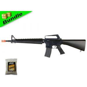 BBTac Airsoft Rifle 1 BBTac BT-BT16A2-+1000BB M16A2 Package Vietnam Style Spring Airsoft Gun Rifle with 1000 Ball Bearing