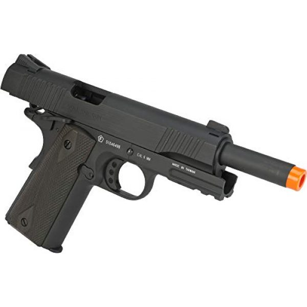 Colt Airsoft Pistol 4 Colt 1911 CO2 Full Metal Airsoft Pistol with Adjustable Hop-Up and Blowback, 380-390 FPS, Black