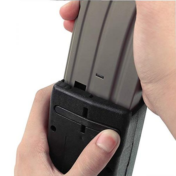 ActionUnion Airsoft Tool 5 ActionUnion Airsoft Tactical Speed Loader for Hand Crank Magazine Quick Loader 1000 Rounds