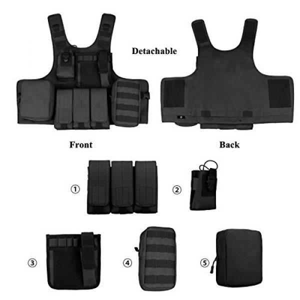 ArcEnCiel Airsoft Tactical Vest 7 ArcEnCiel Tactical Molle Vest, Black