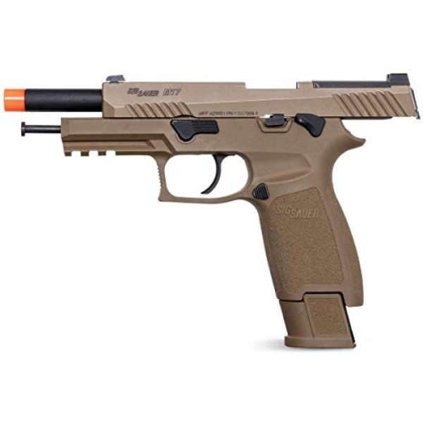 SIG Airsoft Air Pistol 5 Sig Sauer Pro Force M17 Airsoft Pistol with Included 5x12 Gram CO2 Tanks and Pack of 1000 6mm 0.20g BBS Bundle