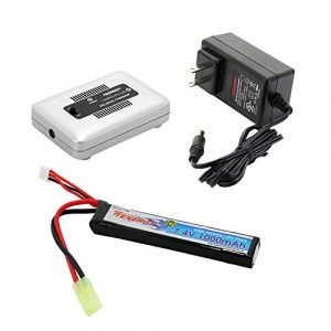 Tenergy Airsoft Battery 1 Tenergy Airsoft Battery 7.4V 1000mAh High Capacity LiPo Stick Battery Pack 20C High Discharge Rate Hobby Battery Pack w/Mini Tamiya Connector + LiPo/Life Balance Charger 1-4 Cells for Airsoft Guns