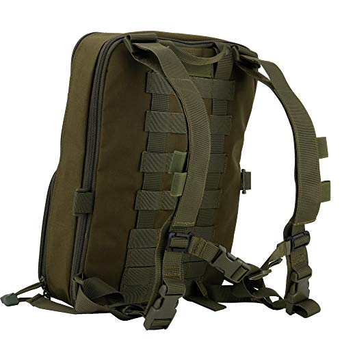 Huenco Tactical Backpack 4 Huenco Tactical MOLLE Military Day Pack Variable Capacity Assault Backpack for Adventure Traveling School