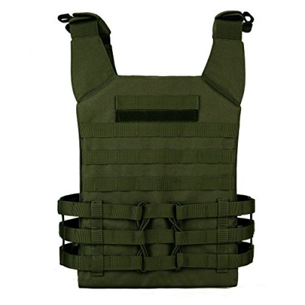 Unistrengh Airsoft Tactical Vest 3 UNISTRENGH Tactical Molle Vests Airsoft Paintball Breathable Adjustable Ultralight Assault Swat Vest with Detachable EVA Protective Safety Guard