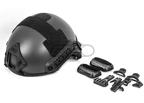 Lancer Tactical Airsoft Goggle 7 Lancer Tactical CA-726B FAST Helmet MH Type Custom Color (Black)