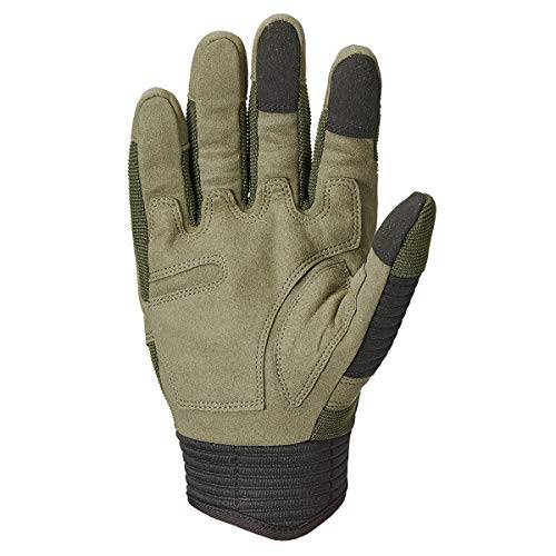 ReFire Gear Airsoft Glove 4 ReFire Gear Military Tactical Gloves Full Finger Rubber Hard Knuckle Army Gloves for Airsoft Paintball Shooting Motorcycle Cycling Hunting