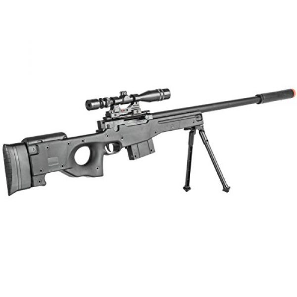 BBTac Airsoft Rifle 6 BBTac Airsoft Sniper Rifle Gun - Powerful Spring Loaded Easy to use, Great for Starter Pack Game Play