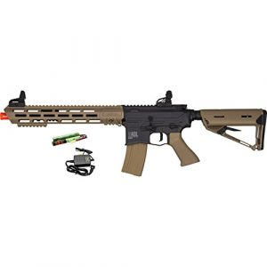 Valken Airsoft Rifle 1 Valken ASL TANGO M4 6mm Airsoft Rifle Tan/Black w/Battery & Charger