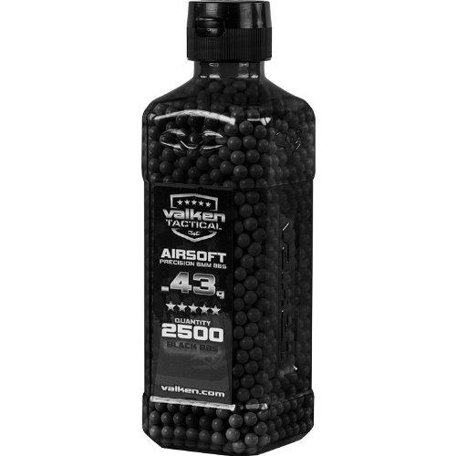 VTAC Airsoft BB 1 Valken Airsoft BBs - 0.43g Bottle, 2500 Count, Black