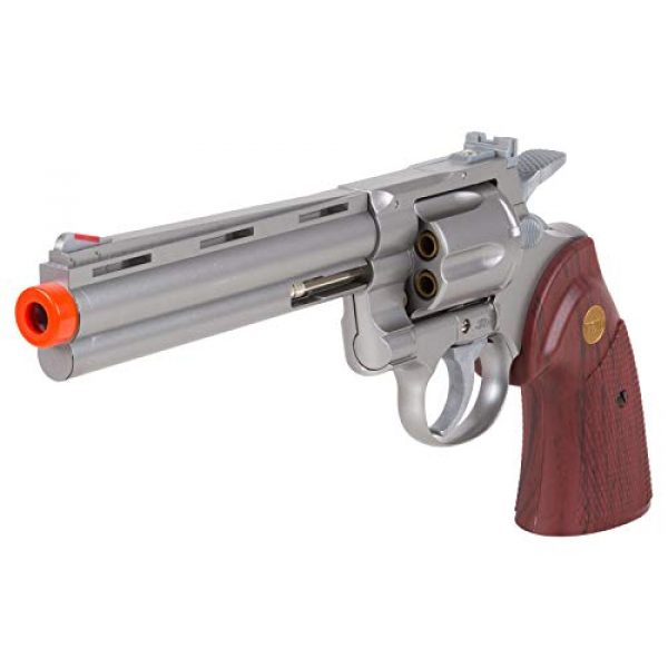 "TSD Airsoft Pistol 1 TSD PY-4480-8739 Zombie Killer .357 6"" Replica Spring Airsoft Revolver BB Gun, Silver, 6-Inch"