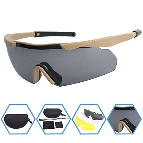 XAegis Airsoft Goggle 1 XAegis Tactical Eyewear 3 Interchangeable Lenses