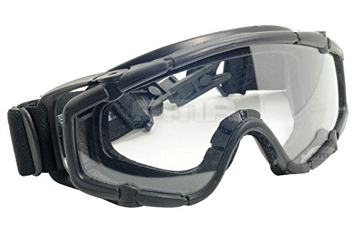 FMA Airsoft Goggle 3 FMA Airsoft Paintball OPS CORE Jump Helmet Rail Clear SI Goggles Glasses Black SWAT