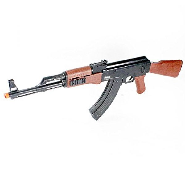 BBTac Airsoft Rifle 1 BBTac Airsoft Spring Rifle A&K Airsoft Gun Full Size Great for Starter Shoot 6mm BBS with Safe Mode, Wood Color