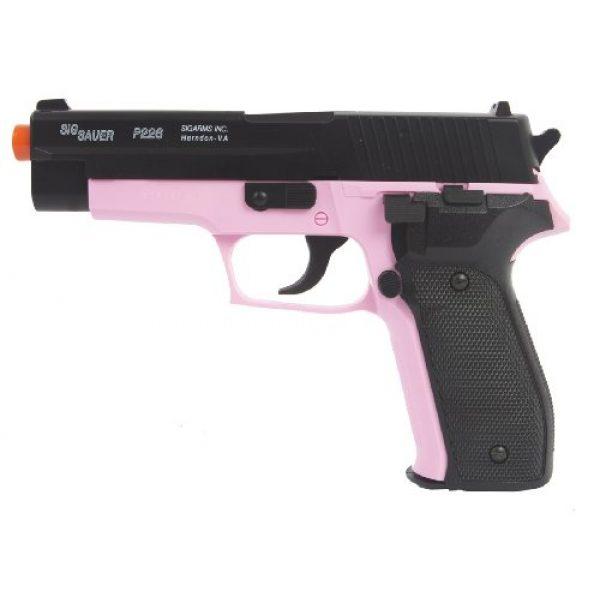 Sig Sauer Airsoft Pistol 1 Sig Sauer P226 Pistol with Spare Magazine, Black/Pink
