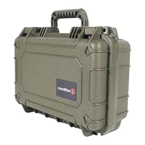 "Green - 13"" x 9"" x 5"" #232 Watertight IP67 Dust Proof and Shock Proof TSA Approved Portable Carrier"