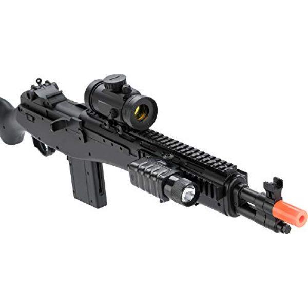 Evike Airsoft Rifle 3 Double Eagle M14 Socom RIS Carbine Spring Airsoft Gun (Black)
