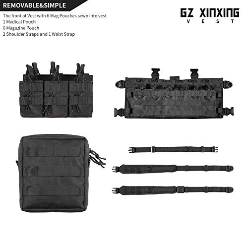 GZ XINXING Airsoft Tactical Vest 6 GZ XINXING Chest Rig Tactical Vest X Harness for Airsoft Shooting Wargame Paintball