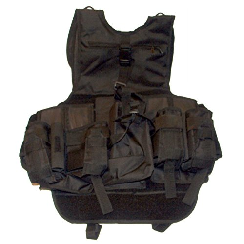 GXG Airsoft Tactical Vest 2 GxG Army Swat Paintball Airsoft Tactical Vest Black