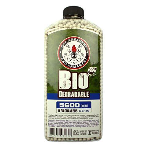 G&G Airsoft BB 2 G&G Bio BB 0.28g (Bottle/5600 Pellets) (White)