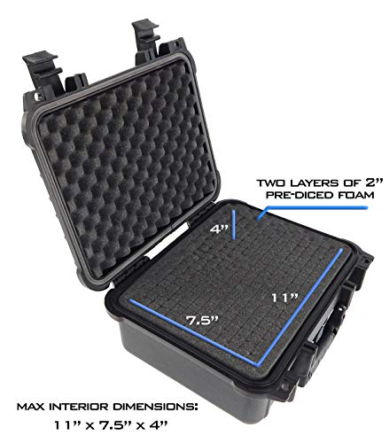 Double Handgun Case with Accessory Storage for Multiple Magazines