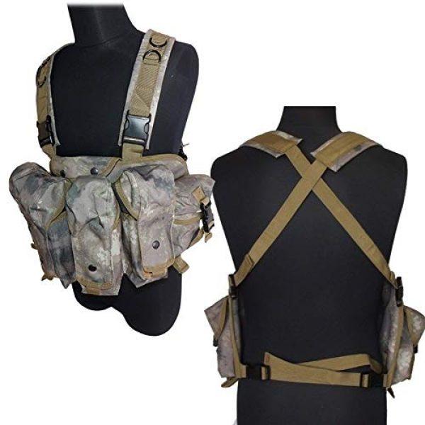 Vioaplem Airsoft Tactical Vest 7 Vioaplem CQC AK Chest Rig Molle Tactical Vest Military Army Equipment AK 47 Magazine Pouch Outdoor Airsoft Paintball Hunting Vest (Color : MC)