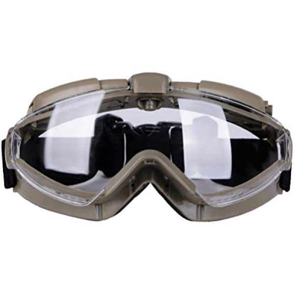BESPORTBLE Airsoft Goggle 1 BESPORTBLE Eyewear Protective Safety Glasses Anti-Fog Anti-Spitting Anti-Saliva Goggles Eyewear Safety Glasses-Black