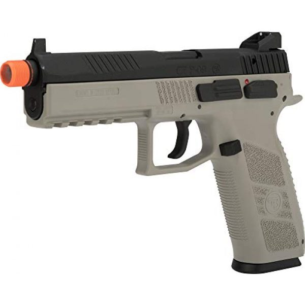 Evike Airsoft Pistol 1 Evike ASG CZ P-09 Licensed Airsoft GBB Gas Blowback Full Metal Airsoft Pistol (Color: Urban Grey)